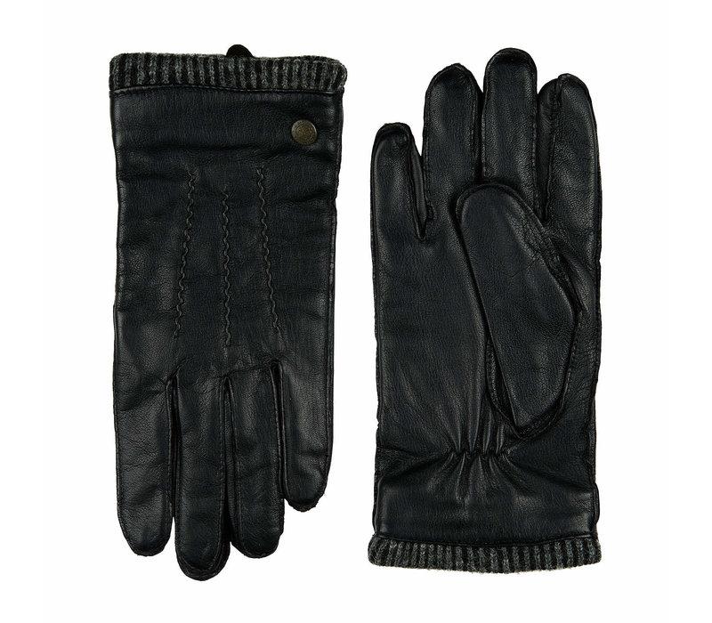 Leather men's gloves with woolen cuff model Thornbury
