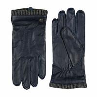 Leren handschoenen heren met wollen manchet model Thornbury
