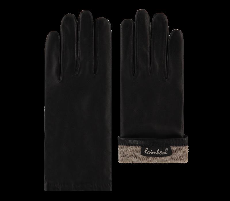 Leren handschoenen dames met wollen voering model Dover