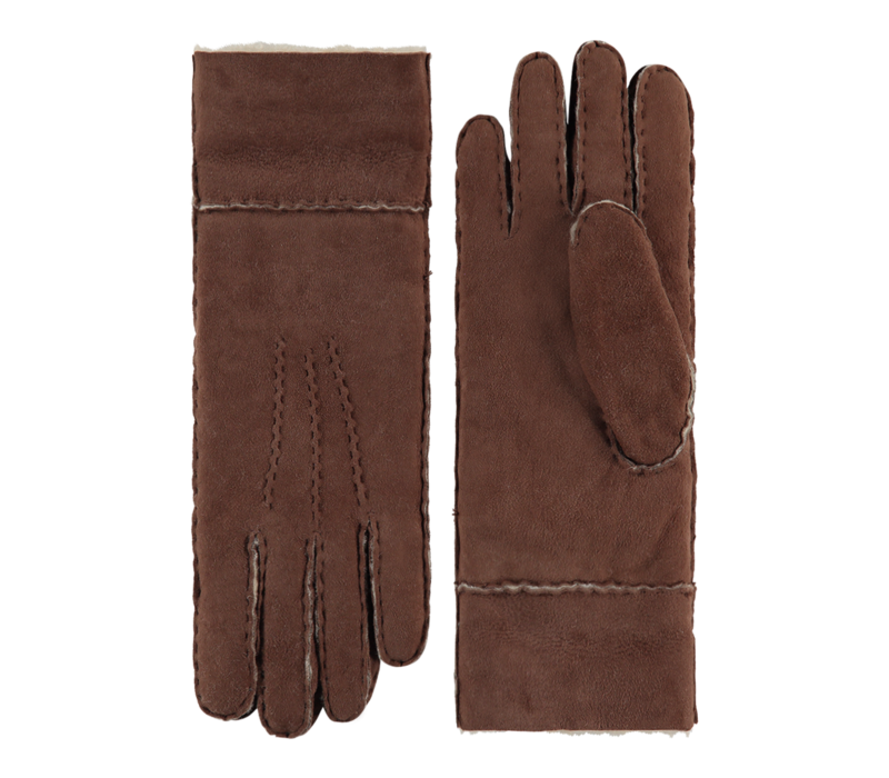 Lammy handschoenen dames met omgeslagen boord model Helsinki
