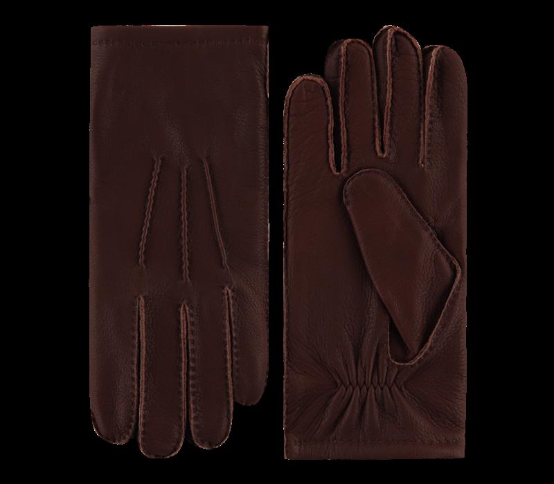 Herten leren handschoenen heren model Bedale