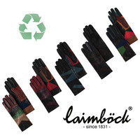 Multicolor leather ladies gloves model Durban
