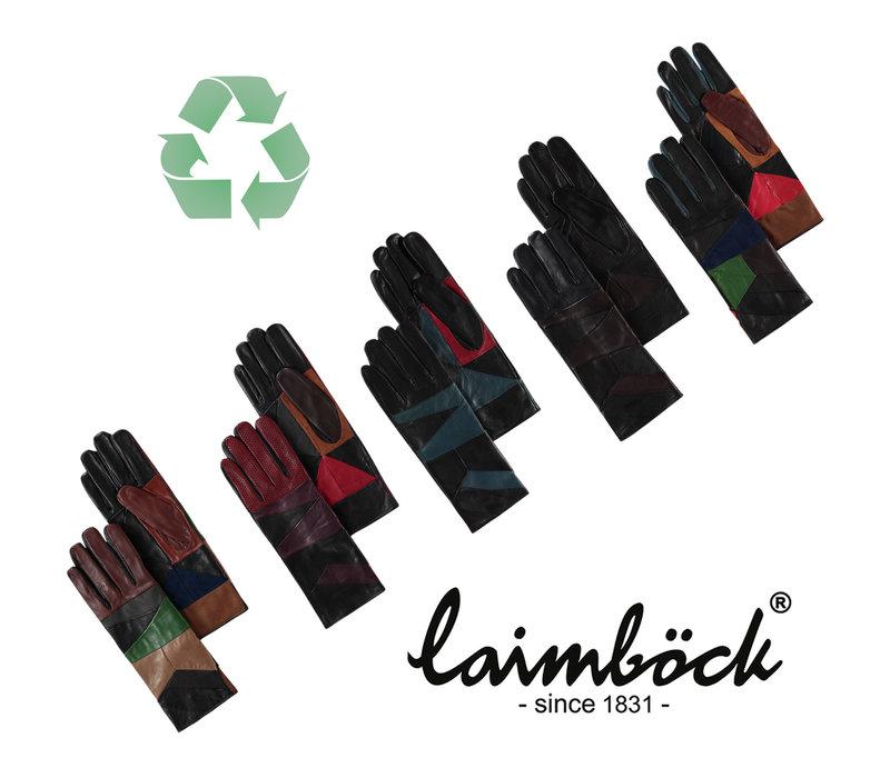 Multicolor leren dames handschoenen model Durban