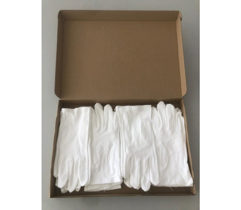 Unisex handschoenen van 100% katoen model Brussels (12 paar)