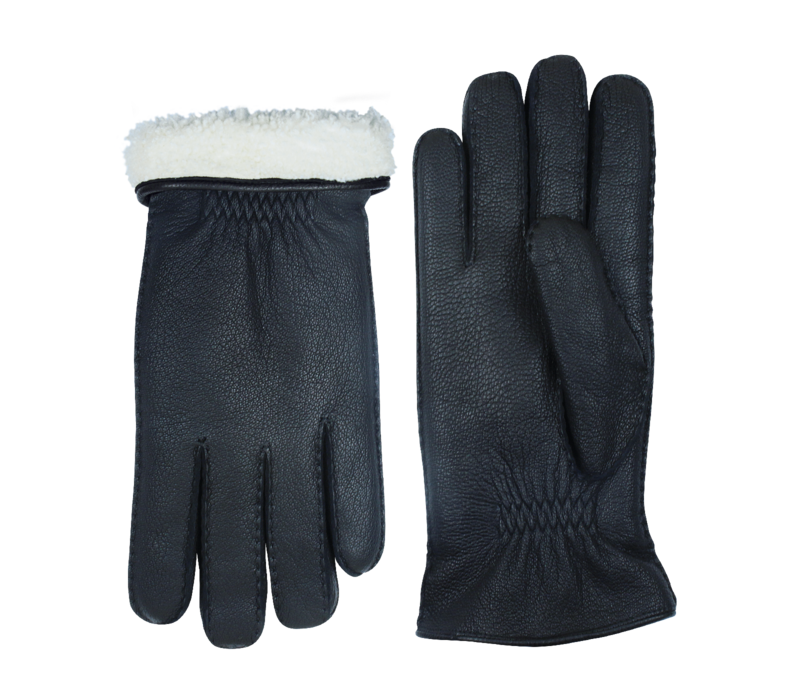 Leather gloves men Model Eton