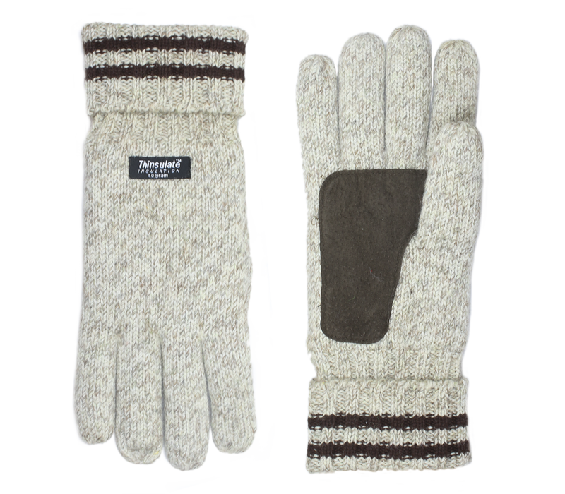 Shetland Wolle Gestrickte Herren Handschuhe Modell Keltic
