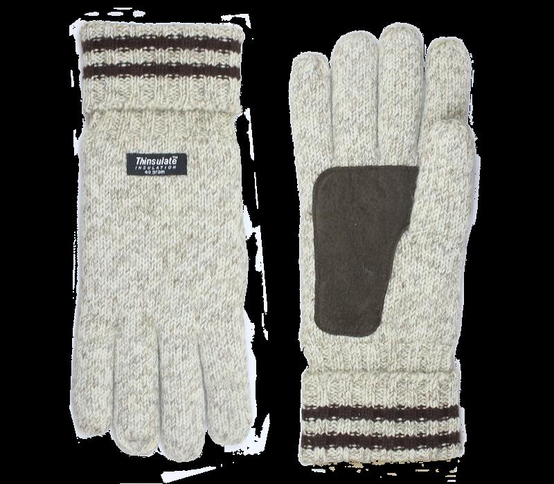Shetland wool knitted men's gloves model Keltic