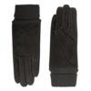 Suede ladies glove with knitted cuff model Alicante
