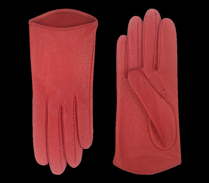 Italian leather ladies gloves model Prunetto