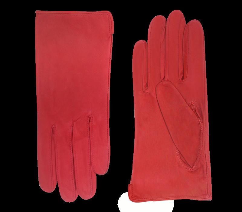 Ongevoerde leren handschoenen dames model Cancun