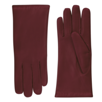 Leather ladies gloves with woolmix lining model Dover