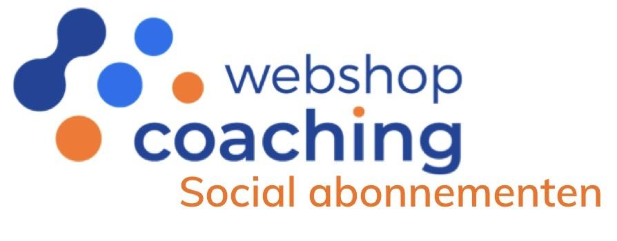 Social abonnementen van WebshopCoaching