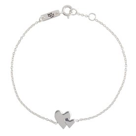 Lennebelle Petites mother Our hearts beat as one –  bracelet - zilver
