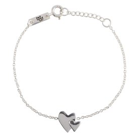 Lennebelle Petites daughter our heart beats as one bracelet silver