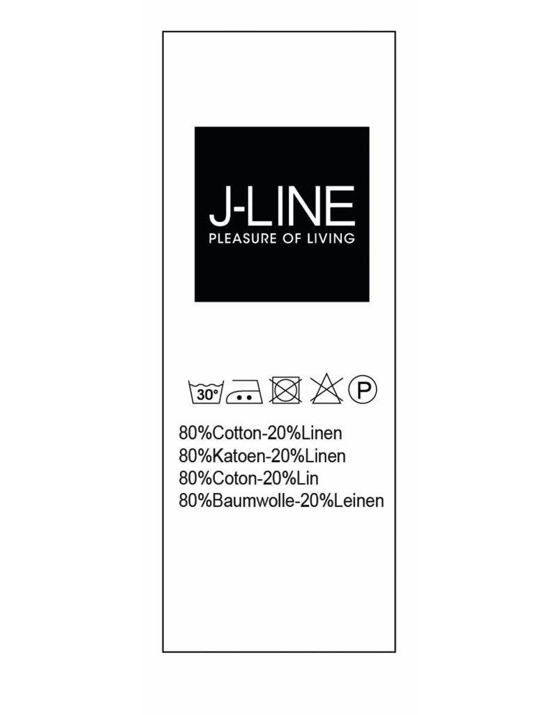 J-Line Plaid weiss 200 x 150