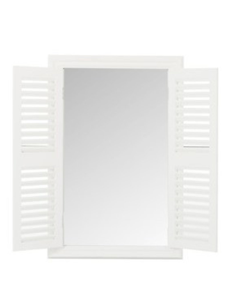 J-Line Mirror with Shutters in white