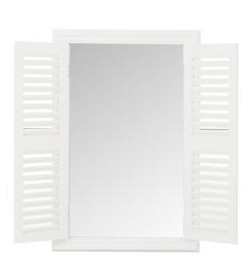 J-Line Spiegel mit Klappläden weiß