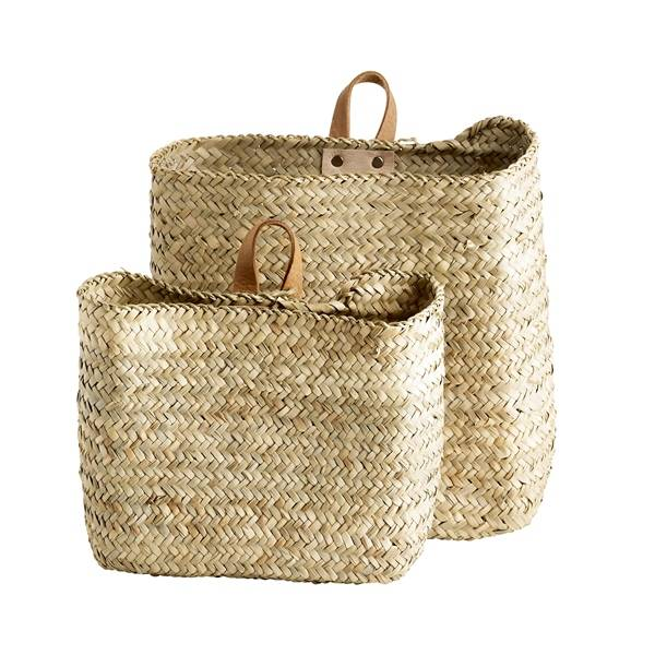 Tinekhome Basket set with leather handle