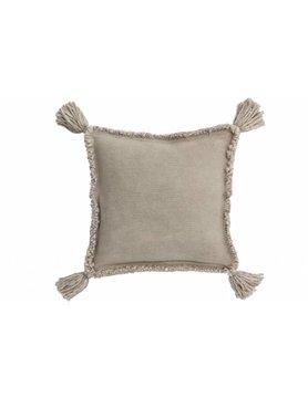 J-Line Linen Cushion Tassel