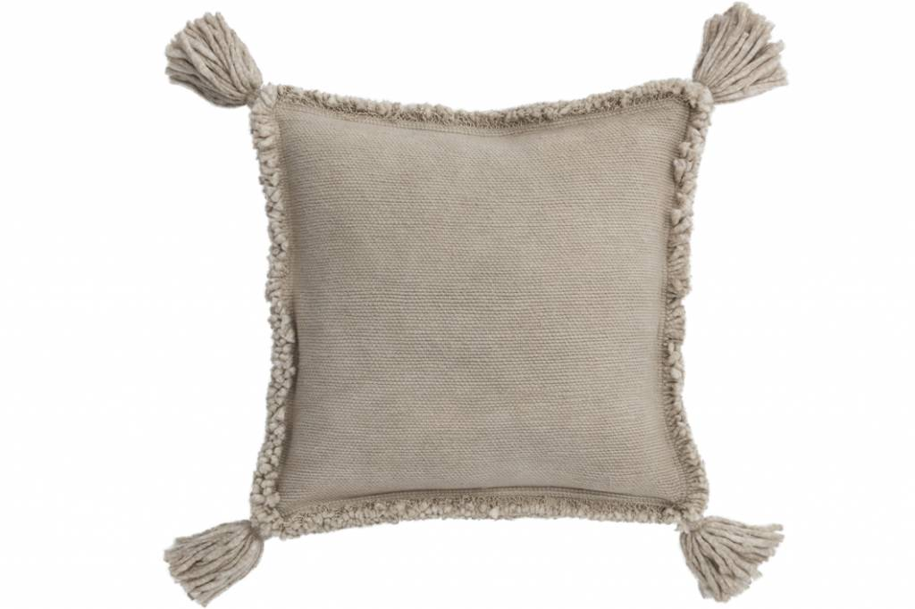 J-Line Linen Cushion Tassel