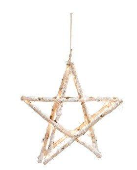 J-Line Wooden Star Light M