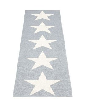 Pappelina Viggo Star grey metallic 150 x 70 cm