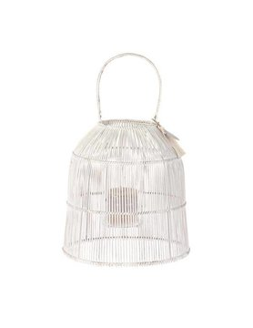 Riverdale Bamboo Lantern white