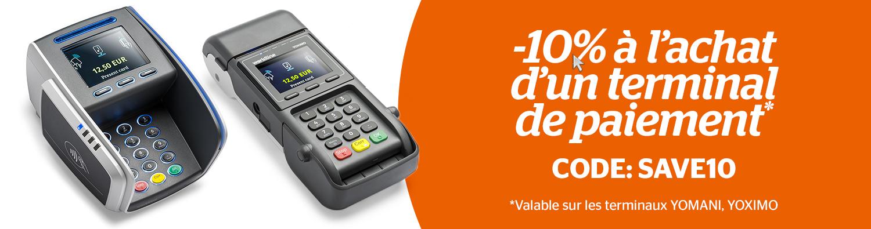 Profitez de 10% de réduction à l'achat d'un terminal de paiement!