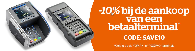 Boost uw zaak en geniet van 10% korting op de aankoop van een betaalterminal