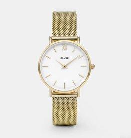 Cluse Minuit Mesh Gold/White