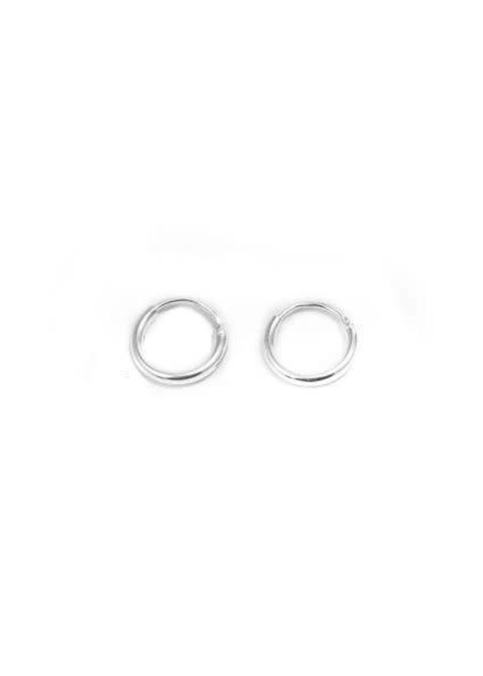 Eline Rosina Tiny Hoops 8 mm Silver