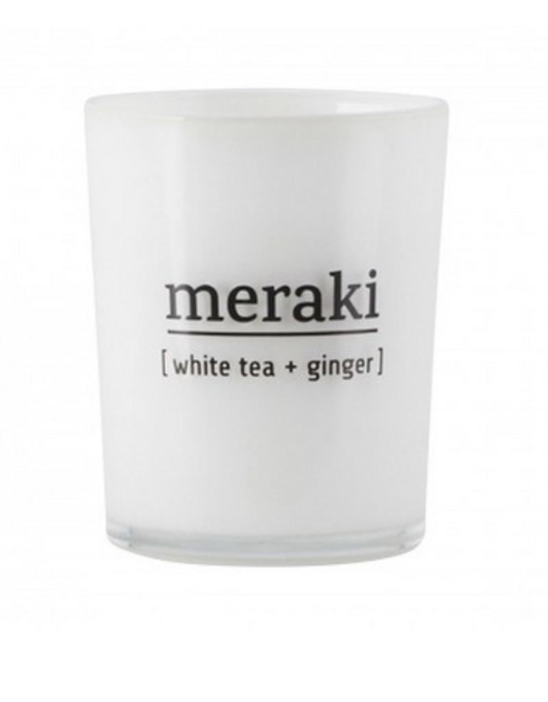 Meraki Scented candle, white tea & ginger