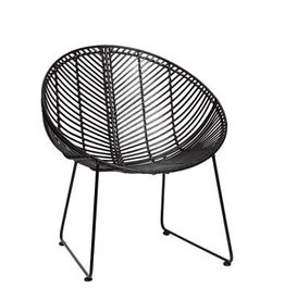 Hubsch Chair, round, rattan