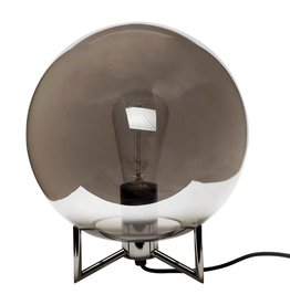 Hubsch Table lamp, metal/glass, smoke