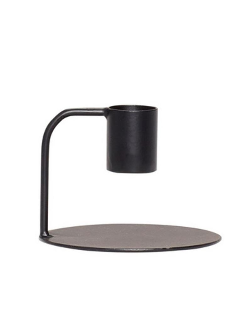 Hubsch Candlestick, metal, black