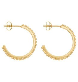 Eline Rosina Small dots hoops gold