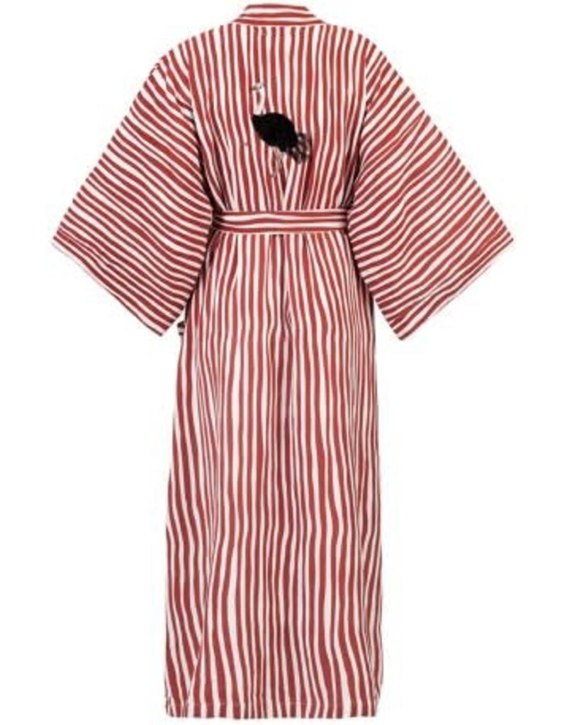 Anna + Nina Kimono Striped Red Stone