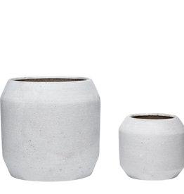 Hubsch Ceramics pot grey (large)