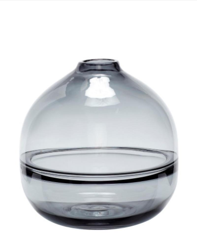 Hubsch Vase, glass, grey medium