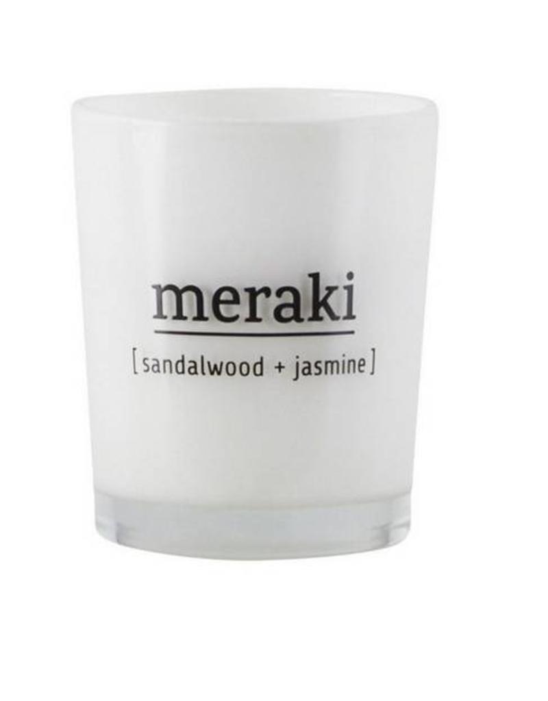 Meraki Scented candle, sandalwood & Jasmine