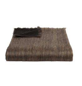Bufandy Alpaca Shawl  FABIAN DOBLE  Black & Sandstone