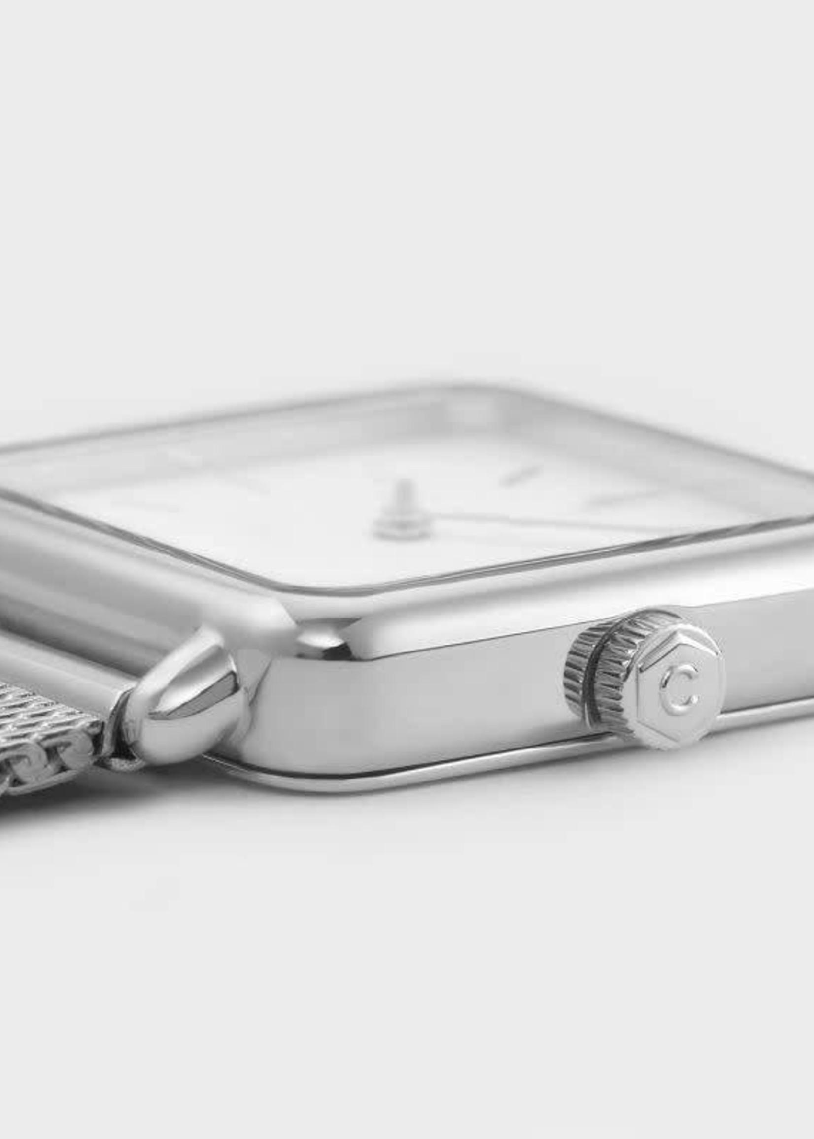 La Tétragone Silver Mesh/Wit