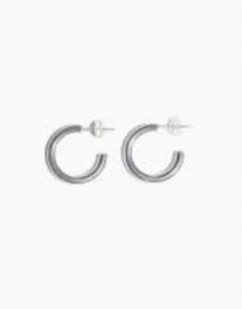 Fashionology Boogie Woogie Hoop Earrings 20mm Silver