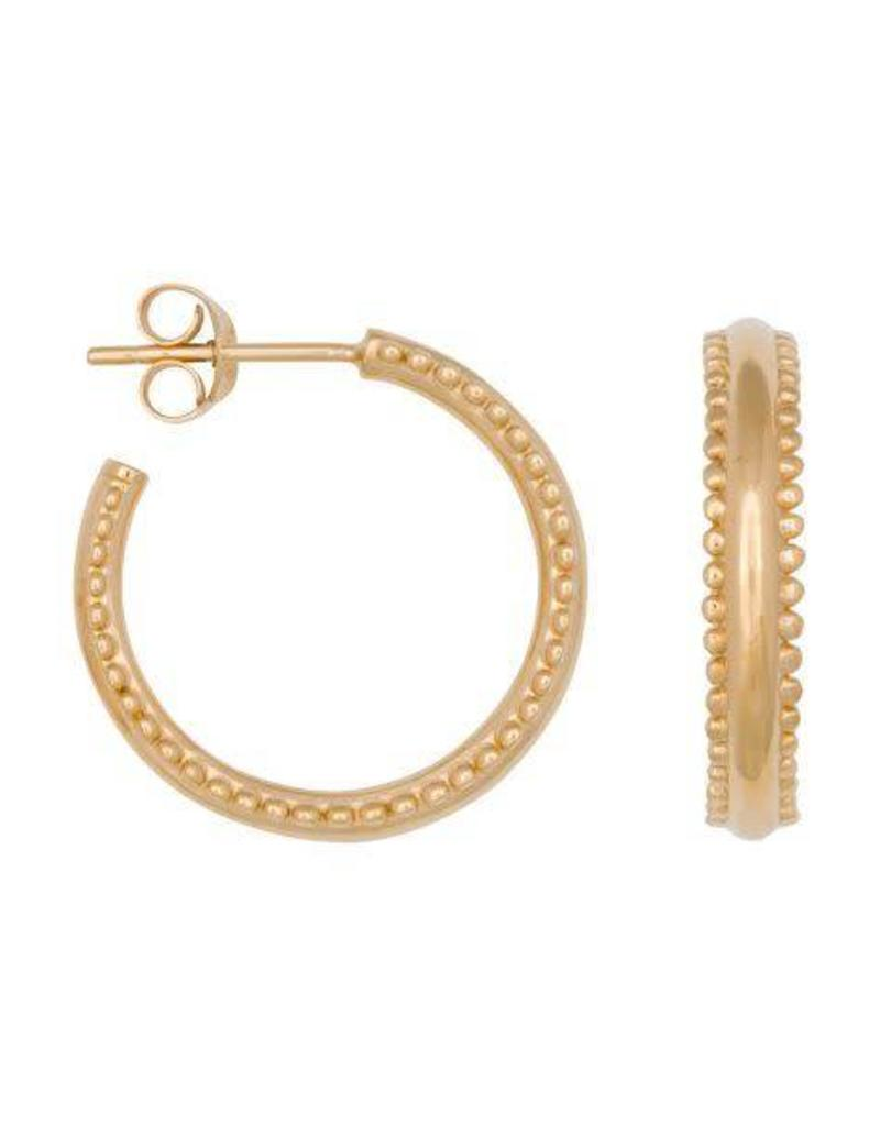 Eline Rosina Double dots hoops gold
