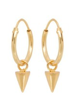 Eline Rosina Cone hoop earring gold