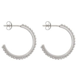 Eline Rosina Small dots hoops silver
