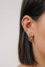 Eline Rosina Small dots hoops gold