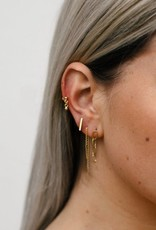 Eline Rosina Chain earrings gold