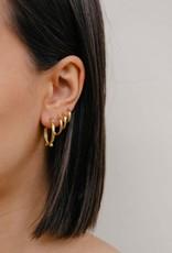 Eline Rosina Large dots hoops gold