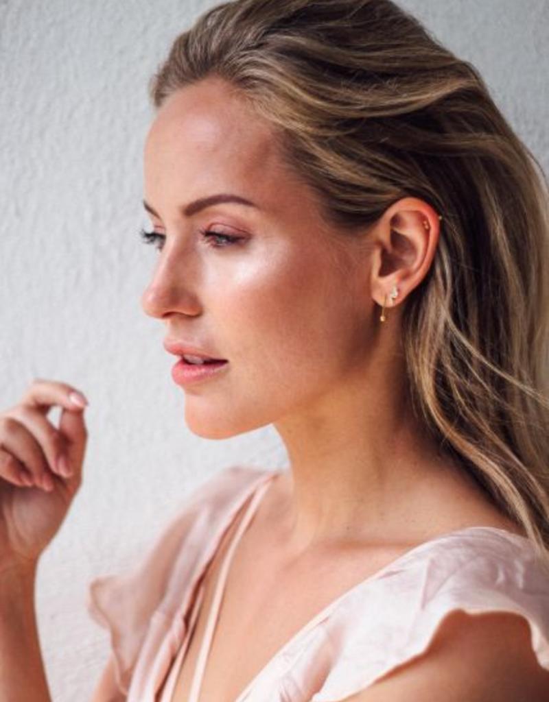 Eline Rosina Bar & ball earrings gold